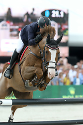 Whitaker Michael, (GBR), Viking<br /> Grand Prix Porsche<br /> Knokke Hippique 2015<br /> © Hippo Foto - Counet Julien<br /> 28/06/15