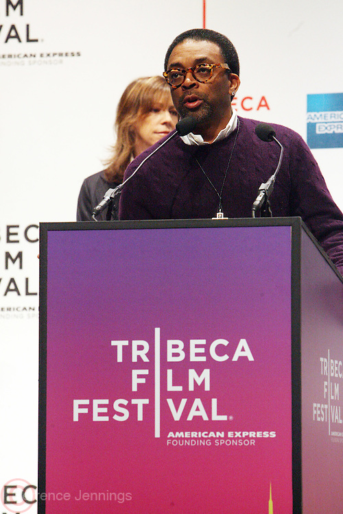 Spike Lee at The 2009 Tribeca Film Festival Opening Press Conference Kick-Off held at The Borough of Manhattan Community College in New york City on April 21, 2009