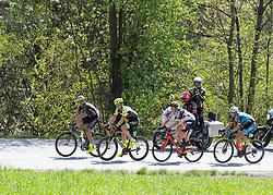22.04.2019, Kufstein, AUT, Tour of the Alps, 1. Etappe, Kufstein - Kufstein, 144km, im Bild // v.l. Emil Dima (ROU, Giotti Victoria), Maximilian Kuen (AUT, Team Vorarlberg), Patrick Gamper (AUT, Tirol KTM Cycling Team), Matthias Krizek (AUT, Team Felbermayr Simplon Wels) Ausreissergruppe des Tages during the 1st Stage of the Tour of the Alps Cyling Race from Kufstein to Kufstein (144km) in in Kufstein, Austria on 2019/04/22. EXPA Pictures © 2019, PhotoCredit: EXPA/ Reinhard Eisenbauer