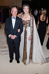 Michael Bloomberg and Diane Taylor walking the red carpet at The Metropolitan Museum of Art Costume Institute Benefit celebrating the opening of Heavenly Bodies : Fashion and the Catholic Imagination held at The Metropolitan Museum of Art  in New York, NY, on May 7, 2018. (Photo by Anthony Behar/Sipa USA)