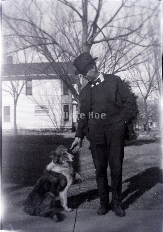 adult man with dog USA 1930s
