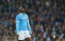 MANCHESTER, ENGLAND - Tuesday, April 12, 2016: Manchester City's Yaya Toure in action against Paris Saint-Germain during the UEFA Champions League Quarter-Final 2nd Leg match at the City of Manchester Stadium. (Pic by David Rawcliffe/Propaganda)