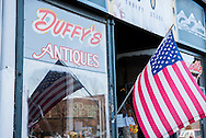 Butte, Montana, Duffys Antiques, American Flag, uptown