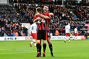 Goal - Ryan Fraser (24) of AFC Bournemouth celebrates scoring a goal to give a 1-0 lead to the home team with Andrew Surman (6) of AFC Bournemouth during the Premier League match between Bournemouth and Southampton at the Vitality Stadium, Bournemouth, England on 3 December 2017. Photo by Graham Hunt.