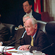 Slade Gorton at the 9/11 Commission's 9th Public Hearing, held in Washington DC. This was a special hearing to hear the testimony of National Security Adviser Condoleezza Rice.
