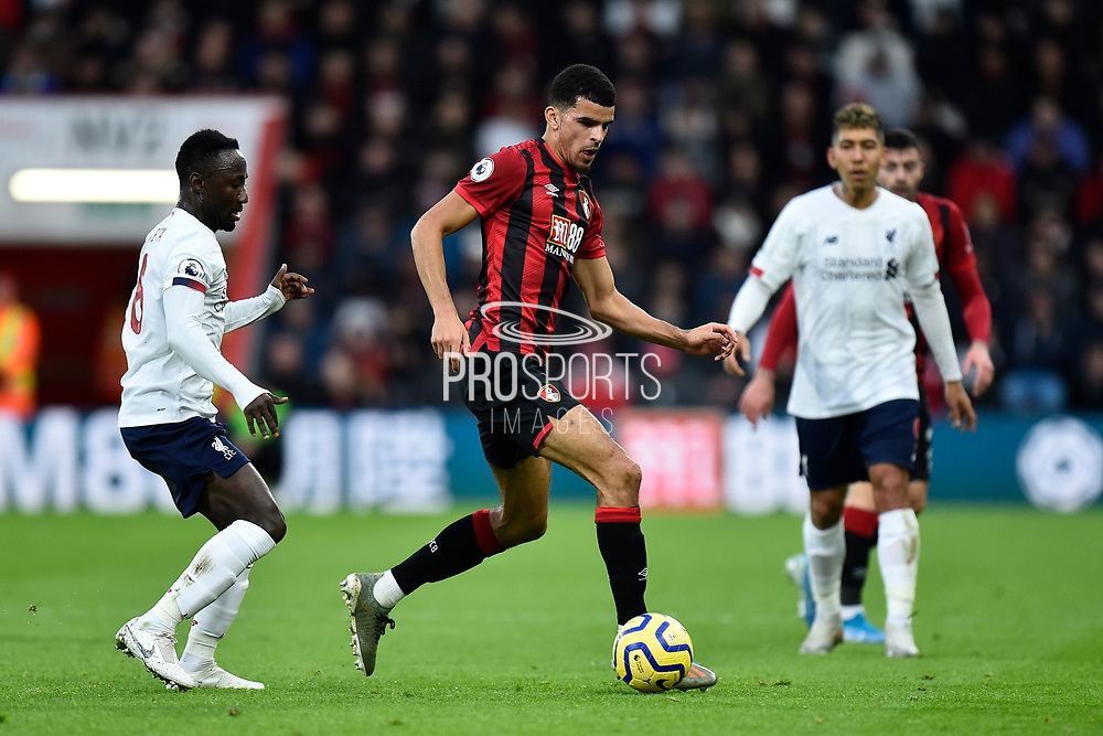 Dominic Solanke (9) of AFC Bournemouth during the Premier League match between Bournemouth and Liverpool at the Vitality Stadium, Bournemouth, England on 7 December 2019.