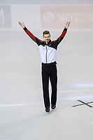 KELOWNA, BC - OCTOBER 26: German figure skater Paul Fentz is introduced during the men's long program / free skate of Skate Canada International held at Prospera Place on October 26, 2019 in Kelowna, Canada. (Photo by Marissa Baecker/Shoot the Breeze)