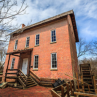 Photo of grist mill in Northwest Indiana. The Wood's Grist Mill is in Deep River County Park in Hobart Indiana and was built by John Wood in the early 1800's.