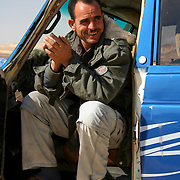 4WD driver takes a break, Egypt (January 2008)