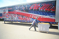 Managers load up for Ole Miss' away game at LSU in Oxford, Miss. on Thursday, November 18, 2010.