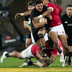 Anton Lienert-Brown  during game 9 of the British and Irish Lions 2017 Tour of New Zealand, the second Test match between  The All Blacks and British and Irish Lions, Westpac Stadium, Wellington, Saturday 1st July 2017<br /> (Photo by Kevin Booth Steve Haag Sports)<br /> <br /> Images for social media must have consent from Steve Haag