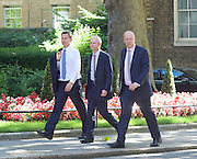 Cabinet meeting arrivals <br /> Downing Street, London, Great Britain <br /> 19th July 2016 <br /> <br /> New members of the Cabinet <br /> arriving ahead of the first cabinet meeting chaired by Theresa May <br /> <br /> Jeremy Hunt<br /> Health<br /> <br /> David Lidington<br /> Leader of the Commons<br /> <br /> Chris Grayling<br /> Transport<br /> <br /> Photograph by Elliott Franks <br /> Image licensed to Elliott Franks Photography Services