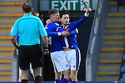 GOAL Ian Henderson celebrates opening the scoring 1-0 during the EFL Sky Bet League 1 match between Rochdale and Chesterfield at Spotland, Rochdale, England on 26 December 2016. Photo by Daniel Youngs.