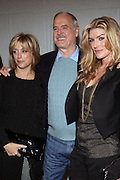 l to r: Deborah Schindler, John Cleese, Camilla Cleese at The Special IFC and BAFTA hosted event with The Monty Python troupe celebrating the 40th Anniversary and premiere of the IFC documentary ' Monty Python: Almost The Truth (The Lawyer's Cut)' held at The Ziegfield Theater on October 15, 2009