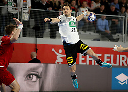 19.01.2018, Varazdin Arena, Varazdin, CRO, EHF EM, Herren, Deutschland vs Tschechien, Hauptrunde, Gruppe 2, im Bild Maximilian Janke. // during the main round, group 2 match of the EHF men's Handball European Championship between Germany and Czech Republic at the Varazdin Arena in Varazdin, Croatia on 2018/01/19. EXPA Pictures © 2018, PhotoCredit: EXPA/ Pixsell/ Igor Kralj<br /> <br /> *****ATTENTION - for AUT, SLO, SUI, SWE, ITA, FRA only*****