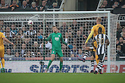 Newcastle take the lead with Anders Lindegaard (Preston North End) watching as the ball goes past him. 1-0 during the EFL Cup 4th round match between Newcastle United and Preston North End at St. James's Park, Newcastle, England on 25 October 2016. Photo by Mark P Doherty.