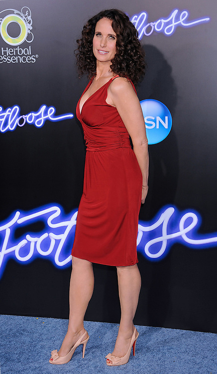 "ANDIE MACDOWELL.attends the ""Footloose""  Premiere at the Regency Village Theater, Westwood, Los Angeles_03/10/2011.Mandatory Photo Credit: ©Crosby/Newspix International. .**ALL FEES PAYABLE TO: ""NEWSPIX INTERNATIONAL""**..PHOTO CREDIT MANDATORY!!: NEWSPIX INTERNATIONAL(Failure to credit will incur a surcharge of 100% of reproduction fees).IMMEDIATE CONFIRMATION OF USAGE REQUIRED:.Newspix International, 31 Chinnery Hill, Bishop's Stortford, ENGLAND CM23 3PS.Tel:+441279 324672  ; Fax: +441279656877.Mobile:  0777568 1153.e-mail: info@newspixinternational.co.uk"