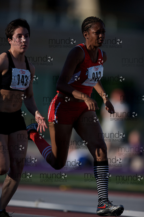 London, Ontario ---13/06/09---  Shennae Steele of York University T.F.C. competes in the  2009 AO Ontario Junior Championships at TD Waterhouse stadium in London, Ontario, June 13, 2009..GEOFF ROBINS Mundo Sport Images