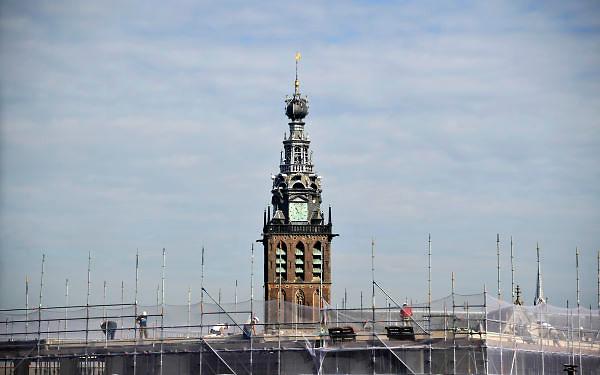 Nederland, Nijmegen, 7-9-2012Bouwput Plein 44 die geheel opnieuw wordt ingericht met parkeergarage en appartementen. Stevenstoren op de achtergrond.Foto: Flip Franssen/Hollandse Hoogte