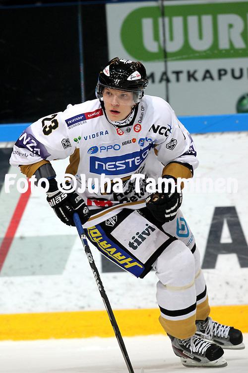 4.10.2012, Tampere..J??kiekon SM-liiga 2012-13. Ilves - Oulun K?rp?t..Joonas Kemppainen - K?rp?t