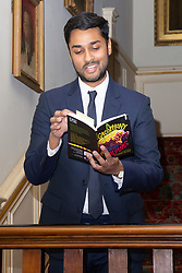 Her Royal Highness Camilla the Duchess of Cornwall hosts a reception at Clarence House to mark the tenth anniversary of First story, an initiative to encourage writing in especially among those from deprived backgrounds in schools across the country PICTURED: Jay Bhadricha, a former student of First Story and now employee reads a poem. London, July 10 2018.