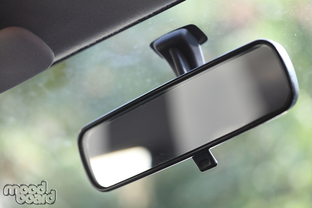 Close up of car mirror