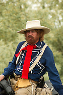 George Custer, 7th Cavalry, Battle of the Little Bighorn Reenactment, Crow Indian Reservation, Montana, portrayed by Steve Alexander