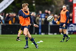 Sam Olver of Worcester Warriors during the pre match warm up - Mandatory by-line: Craig Thomas/JMP - 27/01/2018 - RUGBY - Sixways Stadium - Worcester, England - Worcester Warriors v Exeter Chiefs - Anglo Welsh Cup