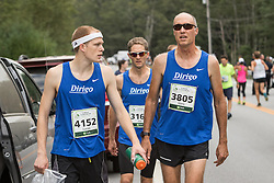 Dirigo RC teammates walk to start line, Lucas, Hans, Joe
