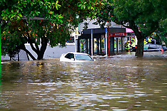 Auckland-Rescues in flooded New Lynn