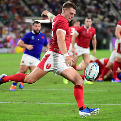 Dan BIGGAR of Wales during the Rugby World Cup 2019 Quarter Final match between Wales and France on October 20, 2019 in Oita, Japan. (Photo by Dave Winter/Icon Sport) - Oita Stadium - Oita (Japon)