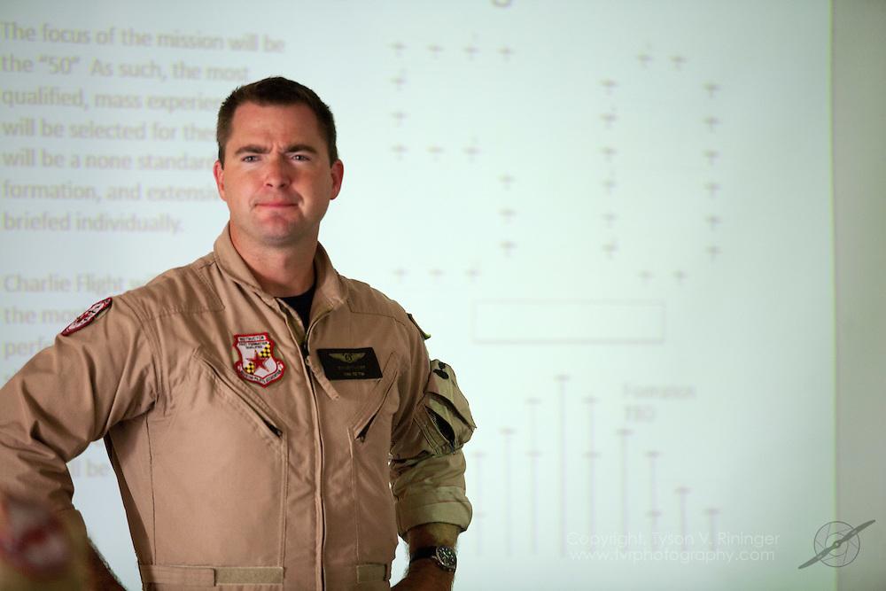 David McGirt heads up the mass formation briefing consisting of 50 CJ-6 Nanchang aircraft