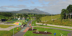 View at Westport Skatepark towards Croagh Patrick.<br />