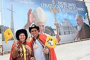 San Giovanni Rotondo 21 Giugno 2009, Visita Pastorale di Sua Santità Papa Benedetto  XVI , Italy San Giovanni Rotondo 21 06 2009, Visit of  Papa Benedetto  XVI in the foto pellegrini polacchi