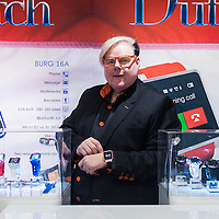 London, UK - 17 March 2014: Hermen Van Den Burg, founder of Burg,  pose for a picture at the Wearable Technology Conference at Olympia in London