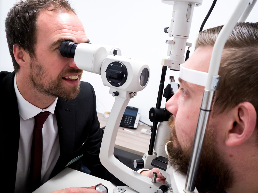 Promotional images for Buckley Eyecare and Caergwrle Eyecare
