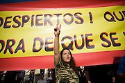 People stand in front of parliament square in Athens, Greece.  They are following the footsteps of the Spanish people who began their presence in Puerta del Sol square in Madrid on the 15th of May, 2011. Image © Angelos Giotopoulos/Falcon Photo Agency