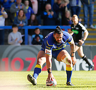 Ben Murdoch-Masila of Warrington Wolves scores the try against Toronto Wolfpack during the Ladbrokes Challenge Cup match at the Halliwell Jones Stadium, Warrington<br /> Picture by Stephen Gaunt/Focus Images Ltd +447904 833202<br /> 13/05/2018