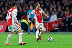 Daley Blind #17 of Ajax in action during the Dutch Eredivisie match round 25 between Ajax Amsterdam and AZ Alkmaar at the Johan Cruijff Arena on March 01, 2020 in Amsterdam, Netherlands
