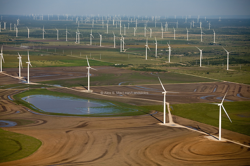 Wind turbines in Sweetwater, TX are among the most productive in the United States.