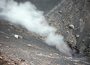 Italy, Sicily, Etna volcano Steam being emitted