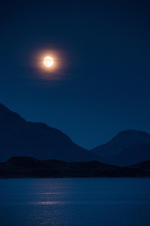 Moonrise over Loch Shieldaig, Torridon, Scotland