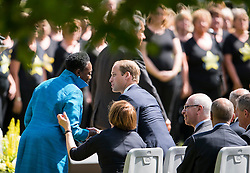 © Licensed to London News Pictures. 07/07/2015. London, UK. Prince William at the service. A memorial service in Hyde Park London on the 10th anniversary of the 7/7 bombings in London. The event is attended by Prince William, survivors of the attack and family of those who lost their lives. Photo credit: Ben Cawthra/LNP