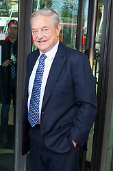 © London News Pictures. 29/10/2013 . London, UK. Chairman of Soros Fund Management, George Soros, arriving at Portcullis House in Westminster, central London. Photo credit : Ben Cawthra/LNP