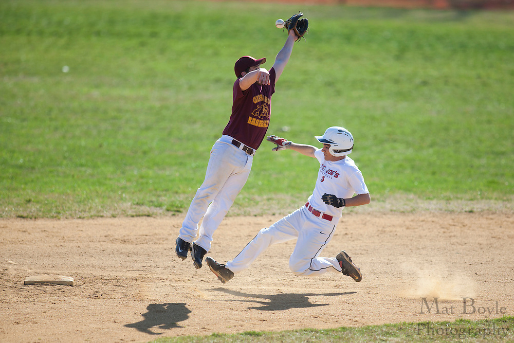 Glassboro High School baseball hosts St. Joseph's High School (Hammonton) for a scrimmage in Glassboro, NJ  on Monday March 19, 2012. (photo / Mat Boyle)