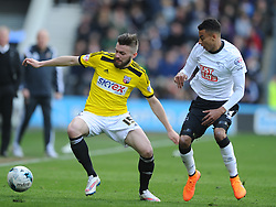 Stuart Dallas Brentford,  Derby County, Derby County v Brentford, Sky Bet Championship, IPro Stadium, Saturday 11th April 2015. Score 1-1,  (Bent 92) (Pritchard 28)<br /> Att 30,050