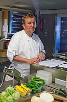Restaurant Bras, Laguiole, in the Aubrac region, France.-. Chef de Cuisine Regis.