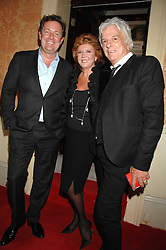 Left to right, PIERS MORGAN, CILLA BLACK and NICKY HASLAM at the engagement party of Vanessa Neumann and William Cash held at 16 Westbourne Terrace, London W2 on 15th April 2008.<br />
