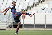 CAPE TOWN, South Africa - Monday 21 January 2013, Siyabonga Hlapho of Jomo Cosmos during the soccer/football match Grasshopper Club Zurich (Switzerland) and Jomo Cosmos at the Cape Town stadium..Photo by Roger Sedres/ImageSA