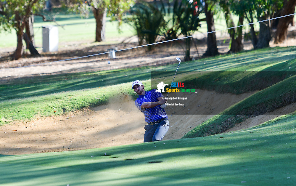 PERTH, AUSTRALIA - FEBRUARY 15: Harrison Endycott (NSW) out of the bunker on the 8th green during the 2nd round of the ISPS Handa World Super 6, Lake Karrinyup Country Club, Perth, Western Australia, on February 15, 2019. <br /> .<br /> .<br /> .<br /> (Photo by: Naratip Golf Srisupab/SEALs Sports Images)<br /> .<br /> Any image use must include a mandatory credit line adjacent to the content which should read: Naratip Golf Srisupab/SEALs Sports Images